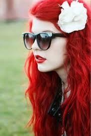 hermoso cabello rojo ondulado