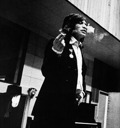 Mick during a recording session, 1969.