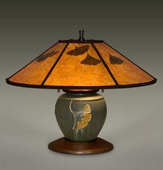 MADISON Ephraim Pottery Lamp , William Morris Studio, Mission Lighting