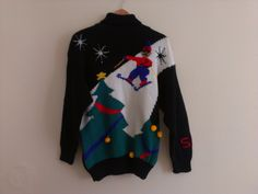 80s vintage women's medium ugly Christmas sweater. $20.00, via Etsy.