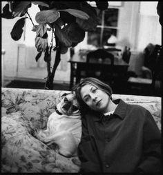 Donna Tartt at home with her pug, Pongo. Photo Credit: Jill Krementz