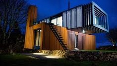 When Irish architect and farmer, Patrick Bradley, came up with a design for his own home, he was determined to include as many state-of-the art features as he could. Aaron Kearney, proprietor at iControl Homes was happy to oblige Container Architecture, Grand Designs, State Art, Building A House, New Homes, Stairs, Ship, Mansions, Outdoor Decor