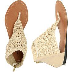 Macrame Flip Flop Sandal found on Polyvore