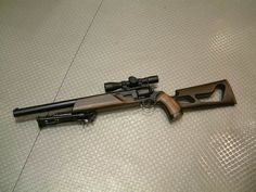 Designer(s): Unknown Manufacturer: Knight's Armament Company (KAC) Model: Silenced Revolver Rifle Caliber: Either Magnum or and unknown Caliber cartridge Capacity: 6 Operation:. Military Weapons, Weapons Guns, Guns And Ammo, Crossbow Hunting, Hunting Rifles, Revolver Rifle, Semi Automatic Rifle, 44 Magnum, Battle Rifle