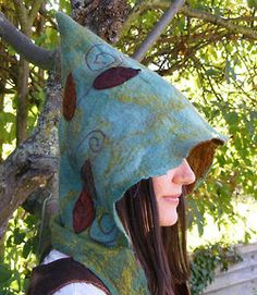 Etsy Transaction - Forest Faerie Felt Hood Scarf on We Heart It - http://weheartit.com/entry/59789481/via/valkyriethais   Hearted from: http://www.etsy.com/transaction/93652121?
