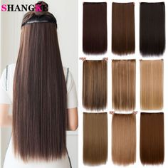 Cheap 5 clips in, Buy Quality clip in hair directly from China clip in hair extensions Suppliers: Cheap hair extension Long straight heat Resistant Synthetic alibaba-express 5 clip in hair extensions mega hair Cheap Hair Extensions, Synthetic Hair Extensions, Clip In Hair Extensions, Hairstyles For Round Faces, Straight Hairstyles, Bob Hairstyles, Texas Hair, Texturizer On Natural Hair, Natural Hair Styles