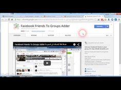 Facebook Friends To Groups Adder - اضافة اصدقائك الى المجموعة