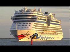 www.cruisejournal.de #Kreuzfahrt 4 fach #Schiffsanlauf in #Rostock-#Warnemünde 10.6.2012 in 3D #Ostsee