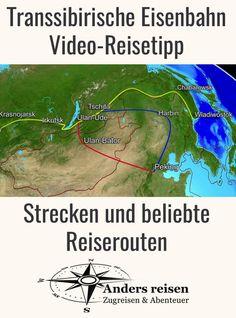 Die Transsibirische Eisenbahn Routen sind das Thema dieses Erklärvideos. Wo verlaufen die Transsibirische Eisenbahn Strecken und wo verläuft die beliebteste Transsib Reiseroute? Die Reisetipps findest Du in diesem Video. #transsibirien #transsib #zugreise #abenteuer Harbin, Asia, Wanderlust, Map, Happiness, Lovers, Travel, Outdoor, Trans Siberian Railway