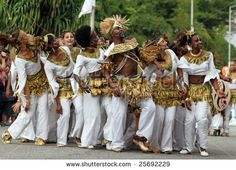 People of French Guiana  during festival.