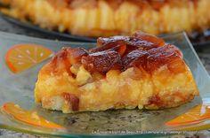 Porción de Tarta de Flan con Piña