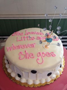 Kate Spade Inspired Bridal Shower #katespade #bridalshower #katespadequote #sparkle #cake #dessert #katespadebride