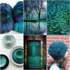 Mood Board Monday - Teal. Our favourite green/purple, because that's totally a thing right?  #tanisfiberarts #handdyedyarn #knitting_inspiration #knittersofinstagram #teal #moodboardmonday