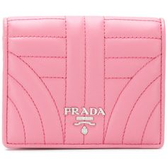Prada quilted foldover compact wallet (€290) ❤ liked on Polyvore featuring bags, wallets, foldable bag, summer bags, snap bag, coin pocket wallet and fold-over crossbody bags