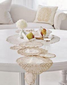 Hermosa idea para camino de mesa