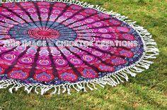 mandala roundie tapestry beach towel mandala by ChicktoeCreations