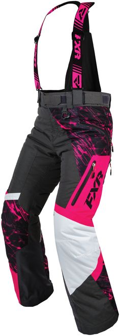 FXR Racing - 2015 Snowmobile Apparel - Women's Vertical Pro Pant - Fuchsia/Charcoal