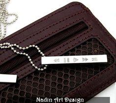 Einzigartige Unisex Halskette / Musik Schmuck von NadinArtDesign auf DaWanda.com