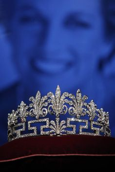 Honeysuckle Tiara. This is the second of the Spencer tiaras, which during the wedding of Prince William and Kate Middleton was on tour in America with the exhibition Diana: A Celebration.