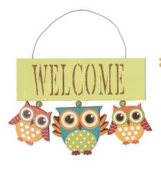 @AmandaTake a look at this Green 'Welcome' Owl Wall Art by Transpac Imports on #zulily today!