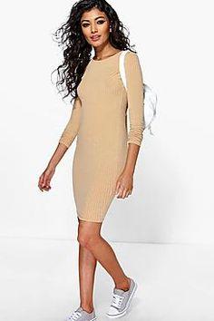 Anna Rib Knit Mini Dress