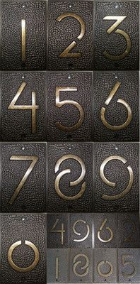 Frank Lloyd Wright Exhibition Font Architectural House Address Number Home Decor | eBay