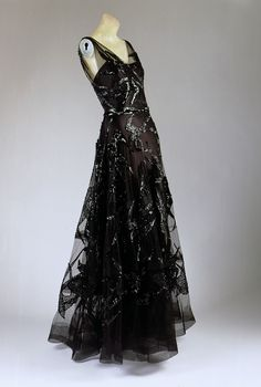 Evening dress Madeleine Vionnet. Fall/winter 1938–39. French. Silk & spangles. | THE MET