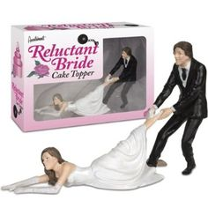 Amazon.com: Accoutrements Reluctant Bride Cake Topper: Toys & Games