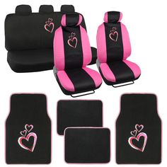 Girly Car Seat Covers for women are popular with women and girls with their new cars or first cars. Hello Kitty, Super Girl, Flowers, and Skulls. Bel Air, Girly Car Seat Covers, Design Autos, Harley Davidson, Batman Car, Hello Kitty, Car Accessories For Guys, Pink Truck, Gif Disney