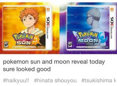 Haikyuu!! x Pkmn | pokemon sun and moon reveal today sure looked good