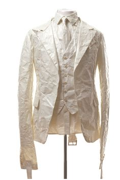 White Paper classic meets Straight jacket . Greg Lauren