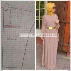 Sewing Paterns, Dress Sewing Patterns, Clothing Patterns, Kimono Diy, Kimono Shrug, Abaya Fashion, Modest Fashion, Diy Fashion, Motif Abaya