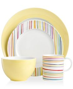 THOMAS by Rosenthal Dinnerware, Sunny Day Mix and Match Collection - Casual Dinnerware - Dining & Entertaining - Macy's Black Dinnerware, Fine China Dinnerware, Modern Dinnerware, Casual Dinnerware, Dinnerware Sets, Bridal Shower Registry, Farmhouse Dinnerware, Dinner Sets, Dinner Ware