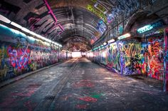 LEAKE STREET GRAFFITI TUNNEL - Google Search