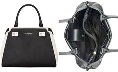 Calvin Klein Top Handle Leather Satchel - All Handbags - Handbags & Accessories - Macy's