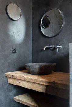 Rustic bathrooms 49117452175217882 - Waschbecken Marmor schwarz Source by lachauxninon
