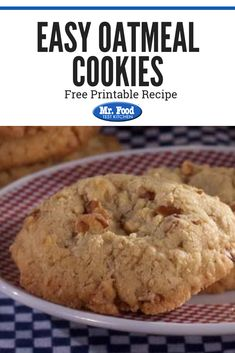 Take one of our simplest oatmeal cookie recipes, and curl up for a comforting snack. Our Easy Oatmeal cookies go great with milk so make a bunch and enjoy! Healthy Oatmeal Cookies, Oatmeal Cookie Recipes, Holiday Cookie Recipes, Cookie Desserts, Dessert Recipes, Easy Indian Recipes, Dinner Recipes Easy Quick, Incredible Recipes, Food Test