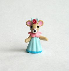 Miniature Sweet Mouse Girl Doll OOAK by C. Rohal