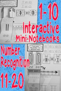 BUNDLE: 2 Interactive Math Mini-Notebooks: Numbers 1-10 and 11-20 focus on number recognition in multiple formats. $ #lifeovercs #math #interactivenotebook #teennumbers