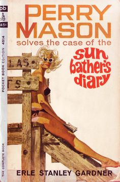 Robert McGinnis Sun Bather's Diary by Earl Stanley Gardner 1963 Pocket 4514