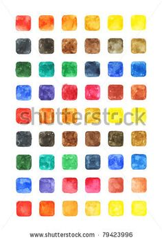 All my aquarelle drawings http://www.shutterstock.com/sets/16601-watercolor-painting.html?rid=498844 — Watercolor colored blank rounded square shapes web buttons on white background — Keywords: aqua black blue brush button clean clear color colorful cyan empty gray green grunge icon indigo ink liquid magenta orange paintbrush paper pictured pink red scan sketch textureviolet water watercolour yellow  — #Royalty #free #stock #photo #illustration for $0.28 per download