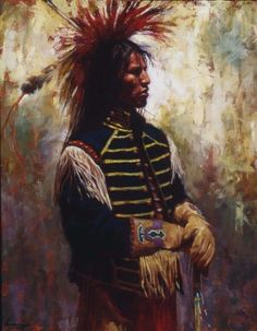 Artist James Ayers has sold Superior Stature which features a Lakota man. James Ayers specializes in images of Native Americans