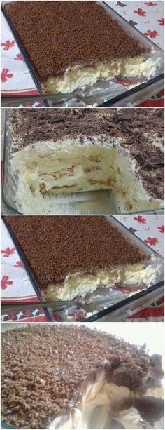 QUANDO TEM ESSA SOBREMESA AQUI EM CASA EU AMOO!!(Torta de Chocolate com Coco) VEJA AQUI>>>Misture os ingredientes em uma panela e leve ao fogo até que se dissolvam completamente #receita#bolo#torta#doce#sobremesa#aniversario#pudim#mousse#pave#Cheesecake#chocolate#confeitaria