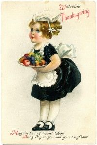 Welcome Thanksgiving! #cute #cards #vintage #illustrations