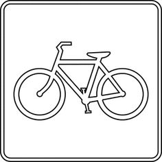 Clip Art: bicycle route sign black white line . - ClipArt Best - ClipArt Best Bike's For You 🚲 Bicycle Drawing, Bicycle Art, Bicycle Clips, Triathlon Ironman, Bicycle Tattoo, Clipart Black And White, Black White, Silhouette Clip Art, Stencil Templates