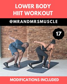 Fitness Exercises 743094007251657149 - Tone your Legs and Strengthen your Glutes with this Intense Lower Body HIIT Workout! Kardio Workout, Hiit Workout Videos, Intense Cardio Workout, Full Body Hiit Workout, Hiit Workout At Home, Fitness Workouts, Gym Workout Tips, Fitness Workout For Women, At Home Workouts