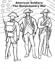 American Flag On Revolutionary War For Independence Day Coloring Pages - Download & Print Online Coloring Pages for Free | Color Nimbus
