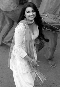 Image via We Heart It #actress #asian #bollywood #cleavage #Hot #salwarkameez #parineetichopra #b&w