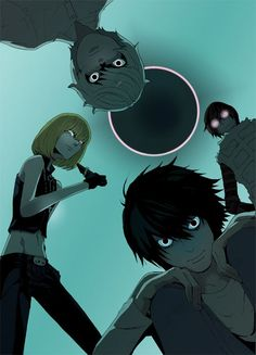 Death Note L's side. Light, down below, we will eliminate you! Tbh, I'm just looking at Mello's crotch.