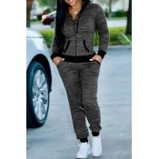 Lovely Casual Hooded Collar Zipper Design Grey Knitting Two-piece Pants Set #cheap #cute #outfits #cheapbrazilianhair #shoes #Jumpsuits #pants #dresses #women #winterfashion #summerfashion #wigs #wholesale #sexy #nails #makeup #clothes #shoes #hair #beautiful #girly #style #closure #accessories